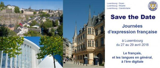 20èmes Journées D'Expression Française À Luxembourg