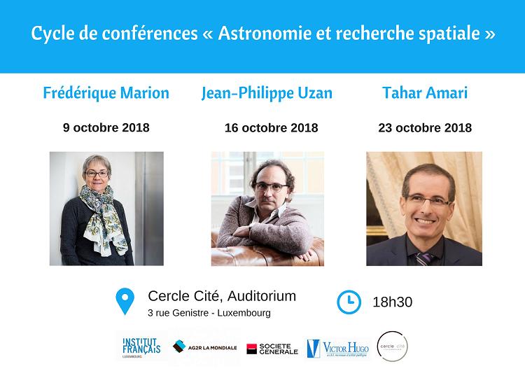 Cycle de conférences «Astronomie et recherche spatiale»