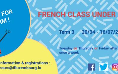 French workshops for children – registration for Term 3