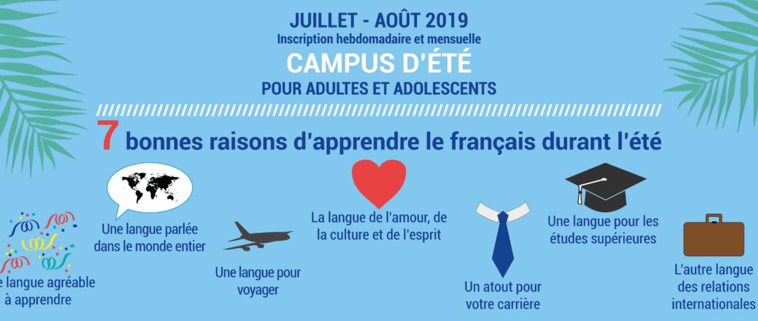 Campus d'été – cours de français pour adultes et adolescents