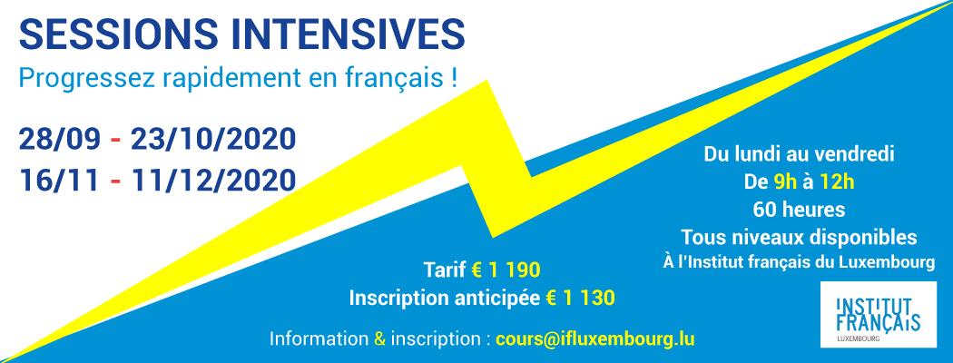 28/09 – 23/10/2020 – Cours de français collectifs intensifs