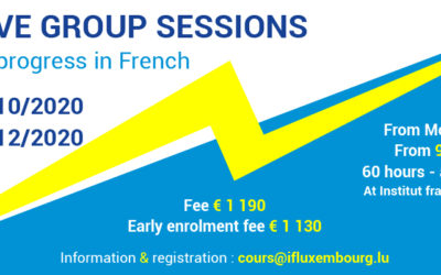 28/09 – 23/10/2020 – Session Intensive