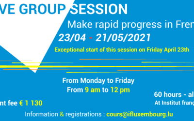 23/04 – 21/05/2021 – Intensive session