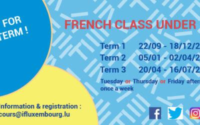 French workshops for children – registration for Term 1
