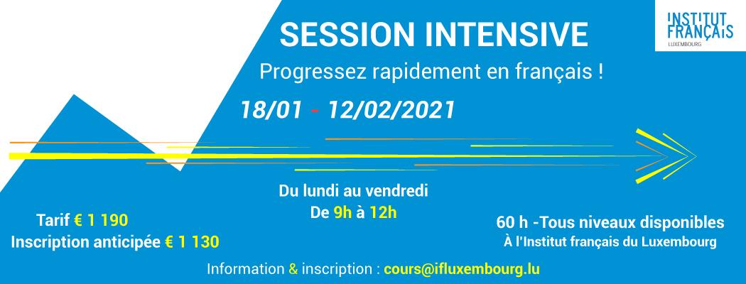 18/01 – 12/02/2021 – Cours de français collectifs intensifs