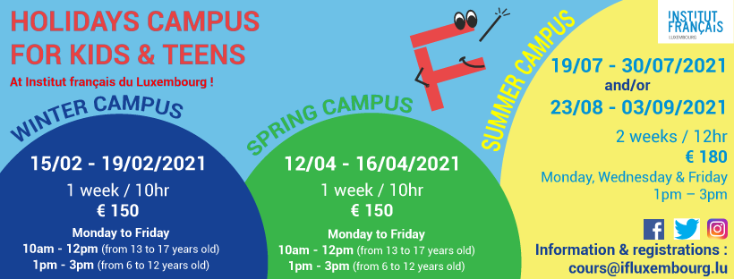 New ! – Holidays campus from 6 to 17 years old