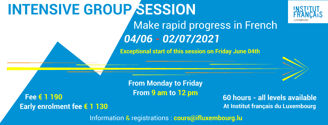 04/06 – 02/07/2021 – Intensive session
