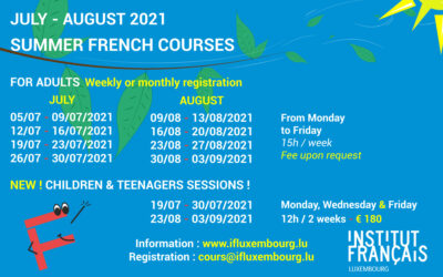 Summer french courses 2021