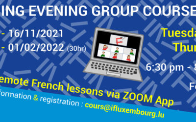 21/09 – 16/11/2021 / E-learning evening group courses
