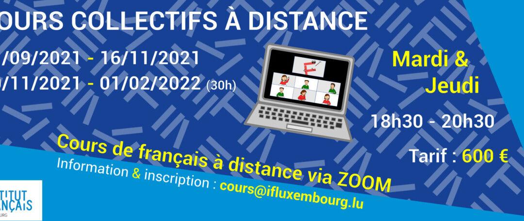 21/09 – 16/11/2021 / Cours collectifs du soir à distance