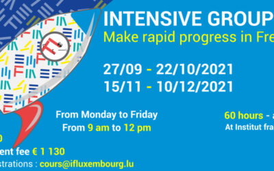 27/09 – 22/10/2021 / Intensive sessions