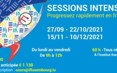27/09 – 22/10/2021 / Cours de français collectifs intensifs