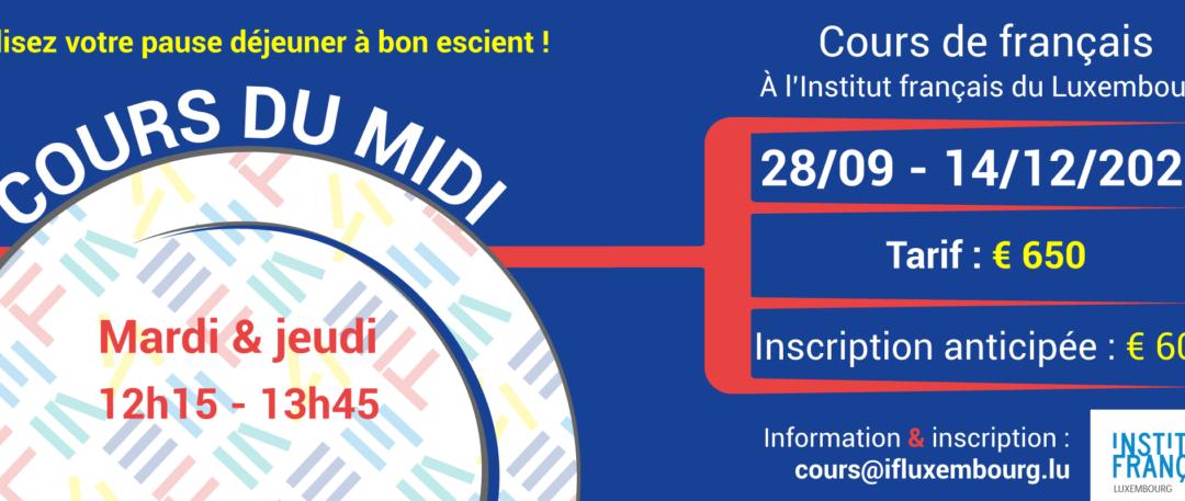 11/01 – 24/03/2022 / Cours collectifs du midi