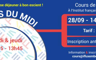28/09 – 14/12/2021 / Cours collectifs du midi
