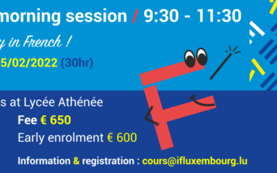 25/09/2021 – 05/02/2022 / Saturday morning group courses