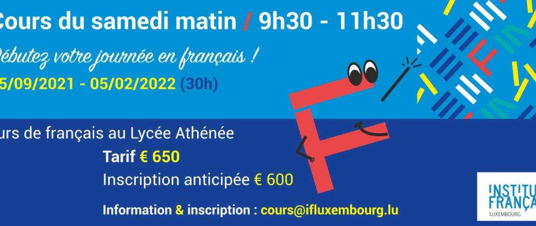 25/09/2021 – 05/02/2022 / Cours collectifs du samedi matin