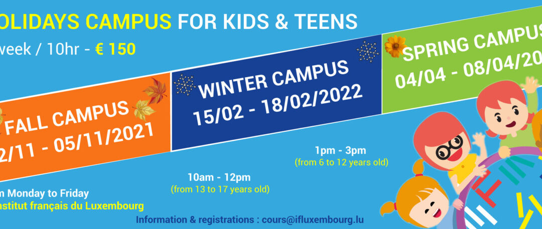 Holidays campus from 6 to 17 years old